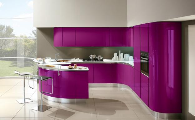 muebles de cocina con colores