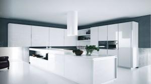 diseño de cocinas blancas