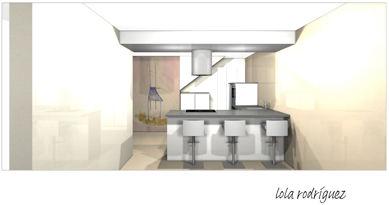 Diseño de cocinas fusionando arte y diseño plano cocina maria angelesI