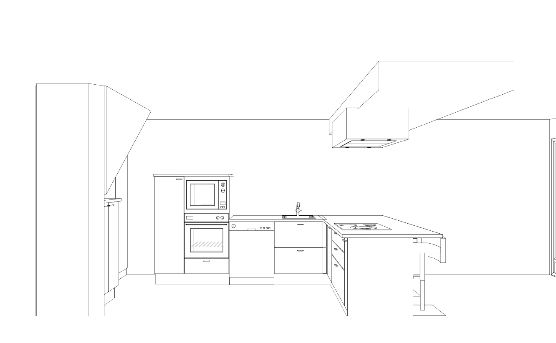 Diseño de cocinas fusionando arte y diseño plano montador cocina maria angelesI 2